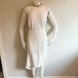 JOSEPH Ivory Leo Crepe Assymetrical Skirt Sz38 NWT